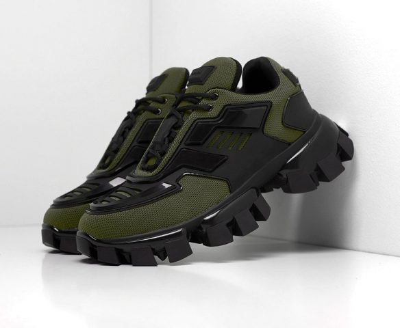 Prada Cloudbust Thunder черно-зеленые