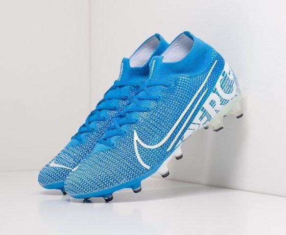 Футбольная обувь Nike Mercurial Superfly VII Elite AG blue