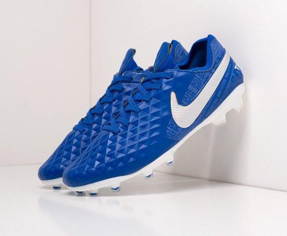 Футбольная обувь Nike Tiempo Legend VIII Elite FG blue