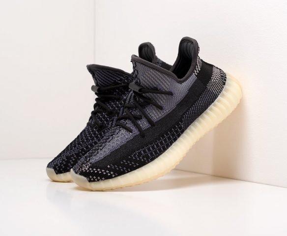 Adidas Yeezy 350 Boost v2 черные с серым