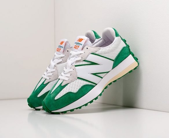 New Balance 327 green-white