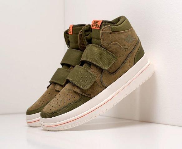 Nike Air Jordan 1 High Double Strap green