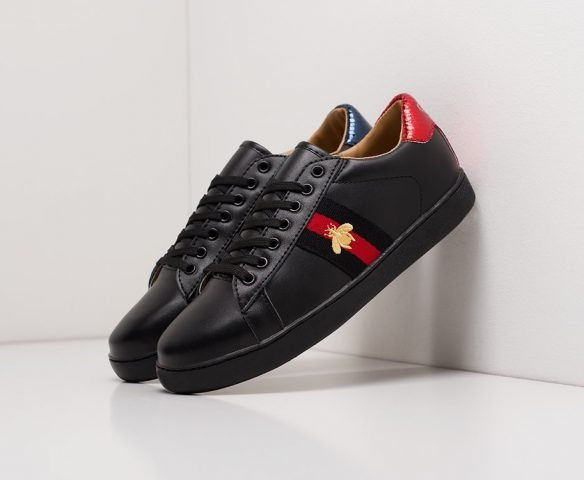 Gucci Stripe Leather черные