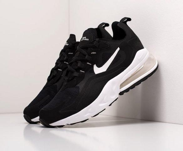 Nike Air Max 270 React черные с белым