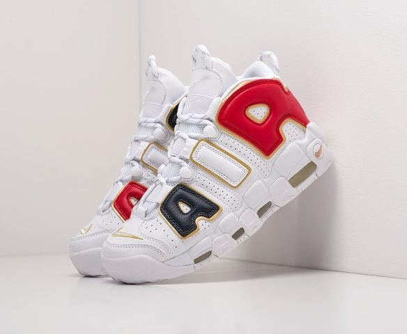 Nike Air More Uptempo white-red