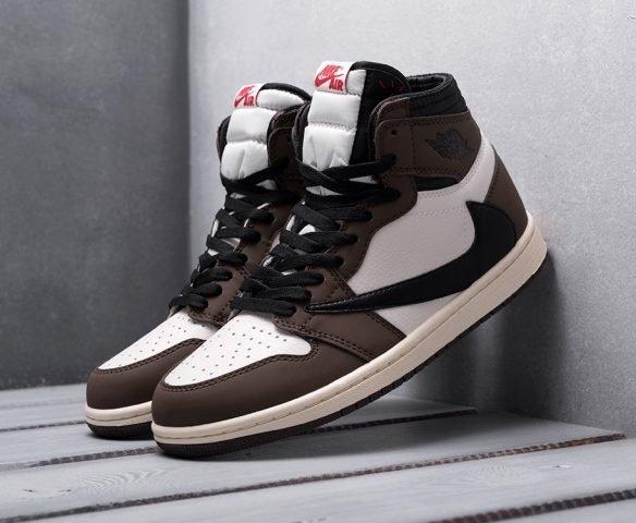 Nike Air Jordan 1 x Travis Scott brown-white