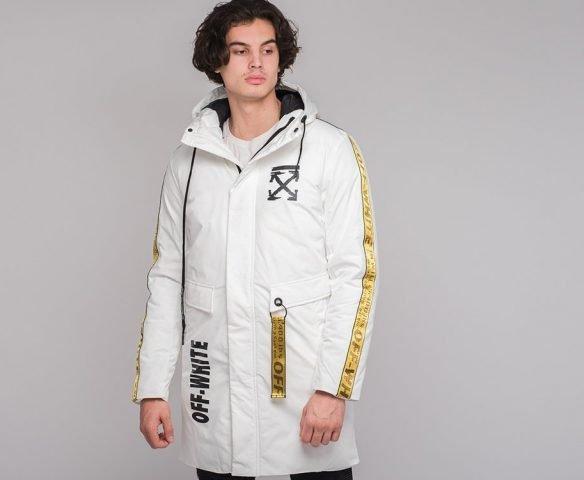 Белая куртка зимняя OFF-WHITE