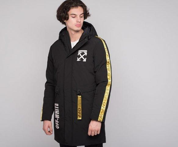 Черная куртка зимняя OFF-WHITE