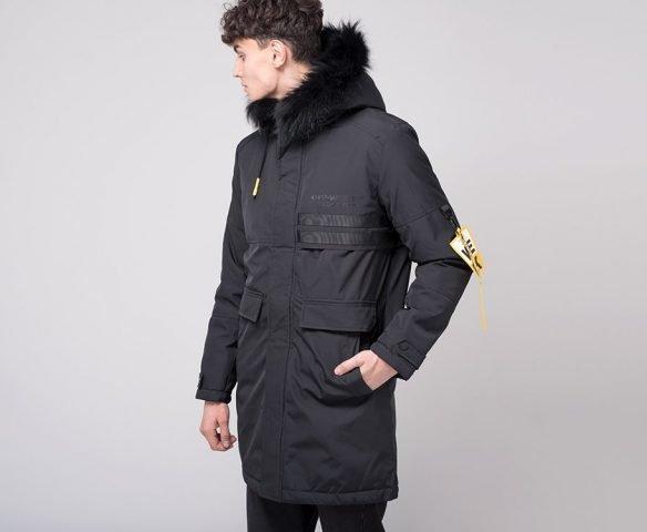 Куртка зимняя OFF-WHITE черная