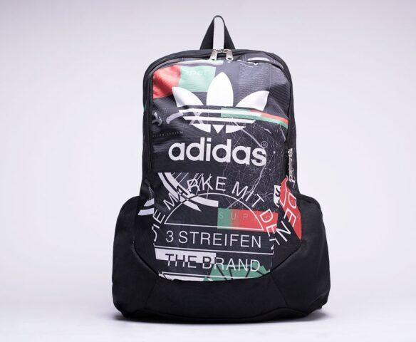 Рюкзак Adidas черный с принтом