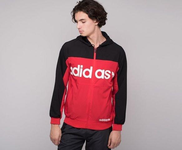 Ветровка Adidas красно-черная