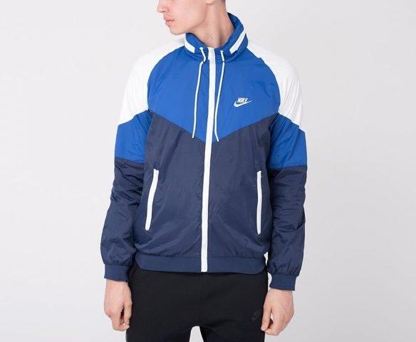 Ветровка Nike бело-синяя