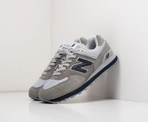 New Balance 574 серые с белым