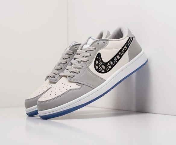 Dior x Nike Air Jordan 1 Low grey