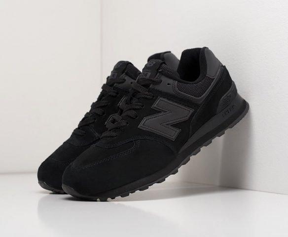 New Balance 574 black (черные)