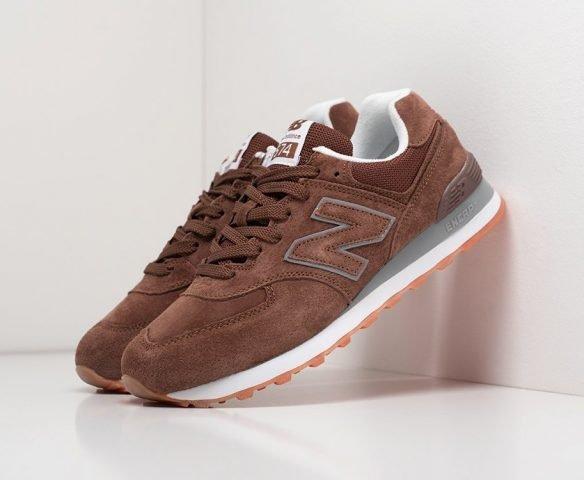New Balance 574 замша коричневые