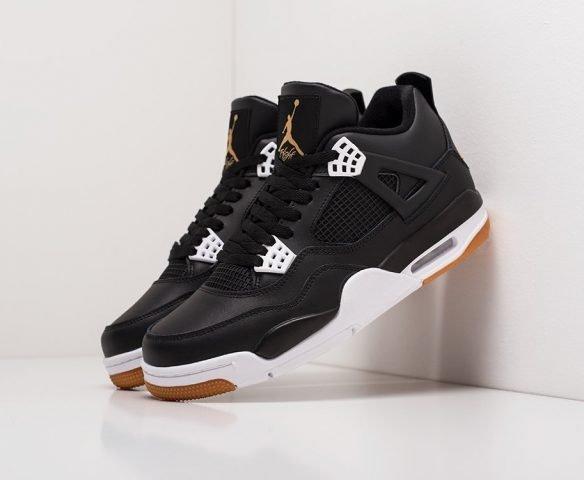 Nike Air Jordan 4 Retro lthr черные