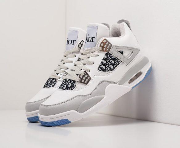 Nike Air Jordan 4 Retro mid white-grey