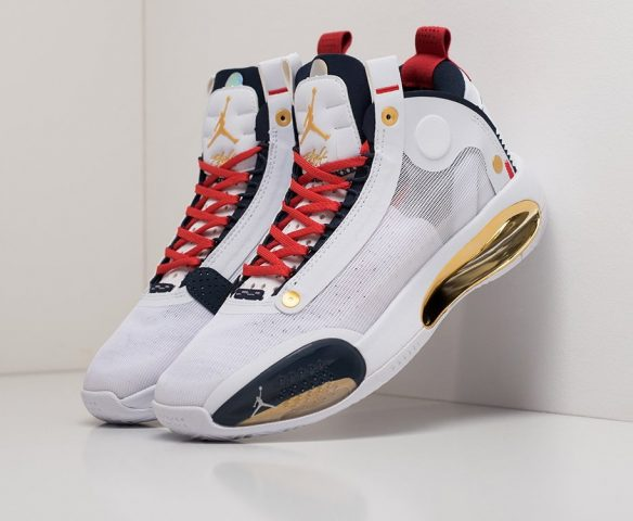 Nike Air Jordan XXXIV white-red