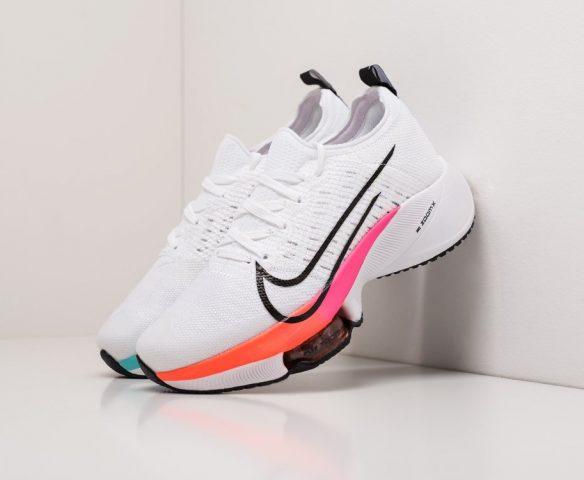 Nike Air Zoom Alphafly Next% бело-оранжевые