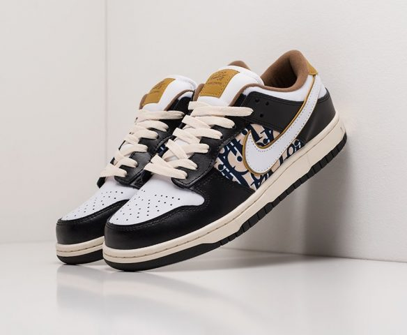 Nike SB Dunk Low  x Dior черно-белые
