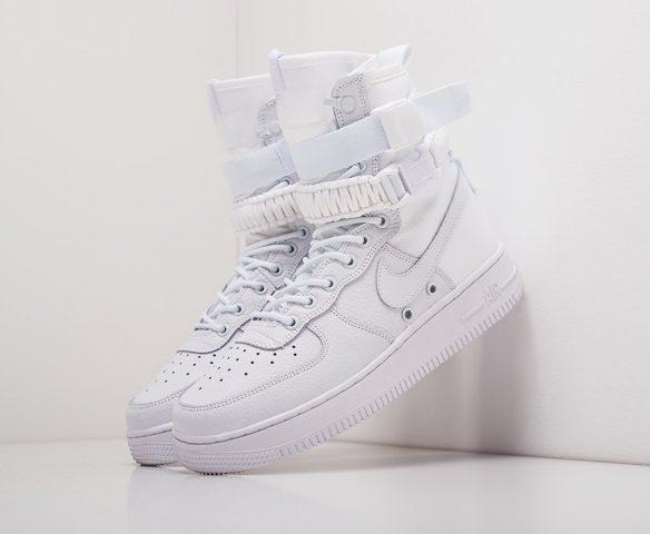 Nike SF Air Force 1 кожаные белые