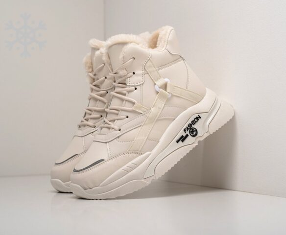 Ботинки Fashion белые зимние