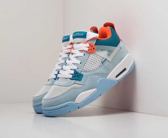 Nike Air Jordan 4 Retro голубой